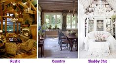 Rustic Chic Decor Decorating styles