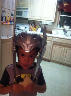 Thor helmet from a bicycle helmet