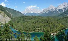 Fernpass, Blick über den Blindsee zur Zugspitze