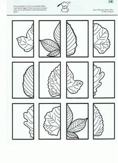 Autumn leaves - cut and paste. Fall Preschool, Diy Crafts For Kids, Preschool Activities, Art For Kids, Autumn Crafts, Autumn Art, Autumn Theme, Autumn Leaves, Symmetry Activities