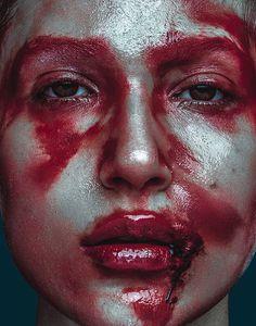 Blood // Bullett Magazine by Elena Jasic. Make Up: Eliza Davila, Model: Clara Rae #fashion #editorial #makeup