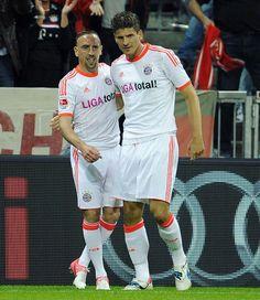 Ribéry and Mario Gomez