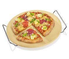 Okrągły kamień do pizzy z podstawką