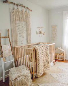 Baby girl nursery design ideas for her cutie pie - Modern Boho Nursery, Nursery Neutral, Nursery Room, Girl Nursery, Nursery Decor, Nursery Ideas, Gender Neutral Nurseries, Simple Baby Nursery, Twin Nurseries