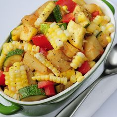 Calabacitos  (Little Squashes) with Potatoes - Beautiful, Easy & Healthy!