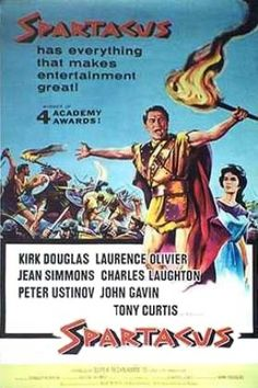 """Spartacus"" directed by Stanley Kubrick / highest grossing film in 1960"