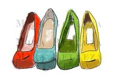 Shoes illustration for websites blogs scrapbooking