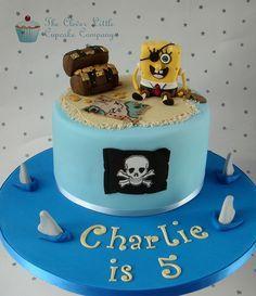 Pirate and Spongebob Cake