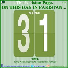 #Pakistan #History #Calender #March