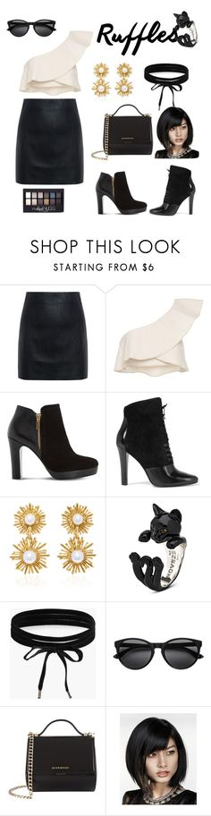 """""""Ruffles..#1"""" by indstargazer0804 ❤ liked on Polyvore featuring McQ by Alexander McQueen, Isabel Marant, Dune, 3.1 Phillip Lim, Oscar de la Renta, Boohoo, Givenchy, Maybelline, ruffletop and darksideofruffles"""