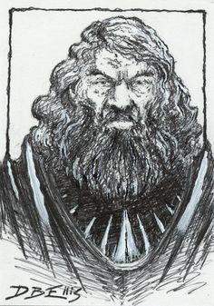 BOROMIR by David Ellis  original fantasy art, ACEO, tolkien, lotr