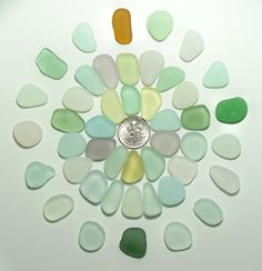 Large Pendants (45) Yellow Aqua Amethyst etc Jewelry Quality Genuine Beach Sea Glass Lot from Ft Bragg (A11) - pinned by pin4etsy.com