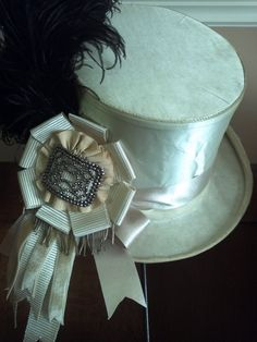 A pinner said: Got the hat on ebay, my friend, Nicol Sayre made the ribbon