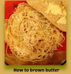 How to brown butter #recipe