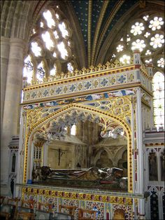 Walter Bronescombe was the Bishop of Exeter from and was responsible for the rebuilding of the cathedral. His ornate tomb dates from the century, when his earlier tomb was incorporated. Famous Historical Figures, Historical Sites, Exeter Cathedral, Cemetery Art, Christian Dating, Graveyards, Effigy, Gothic Architecture, Place Of Worship