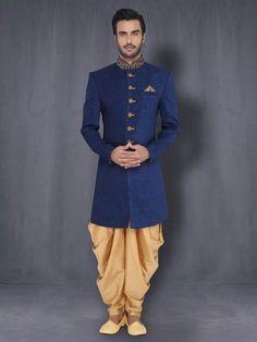 Indo Western With Patiala   Designer Sherwani   Dulha Collection For Men Online   Buy Gift Sets for Men