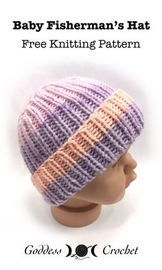 Baby Fisherman's Hat - Free Knitting Pattern