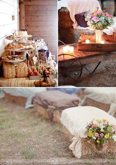 Decoración práctica para bodas en el campo en primavera