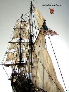 """Mary Celeste"" Mary Celeste, Model Building, Sailing Ships, Knots, Boat, We, Boats, Buttons, Knot"