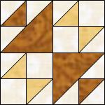 fox and geese quilt block pattern