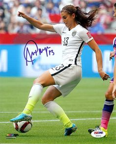 Alex Morgan Autographed 8x10 Photo Team USA PSA/DNA Stock #105962