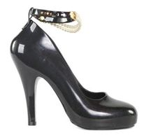 Vivienne Westwood for Melissa women's Skyscraper III black pearl court shoes