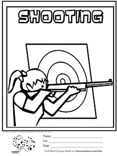 olympic shooting coloring page