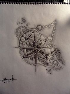 Image result for broken compass tattoo\