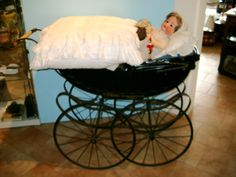 Antiker Kinderwagen ca 1880-1900 Topzustand, Belgien, Rarität in Antiquitäten & Kunst, Antikspielzeug, Puppen & Zubehör | eBay