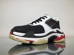 d015acd9ed76 Balenciaga Triple S 483560W06E11011 Black White Shoes 2 White Shoes