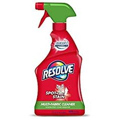Resolve 22 fl oz Multi-Fabric Cleaner and Upholstery Stain Remover Clean Fabric Couch, Clean Sofa, House Cleaning Tips, Cleaning Hacks, Cleaning Recipes, Home Design, Carpet Shampoo Solution, Brown Carpet Bedroom, Best Carpet Stain Remover