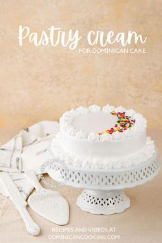 Pastry Cream Recipe for Dominican Cake: a delicious, grown-up filling for the delicious Dominican Cake. Dominican Cake Recipe Video, Meringue Icing, Guava Jam, 3 Layer Cakes, Cake In A Can, Cake Works, Dominican Food, Egg And I, Cream Recipes