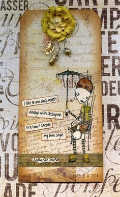 "by Kay Wallace featuring ""Relaxin'"" by Stampotique Originals"