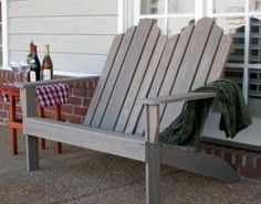 Classic Adirondack Chair Loveseat - Porch Swings - Patio Swings - Outdoor Swings