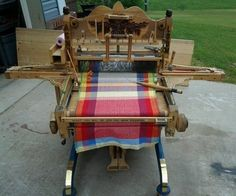 very cool loom for weaving towels, hand built