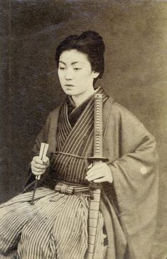 "vintageeveryday: ""Woman samurai warrior – 12 rare vintage photos of Japanese ladies with their katana swords """