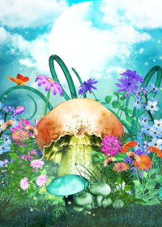 Fairy Backgrounds and flower tubes
