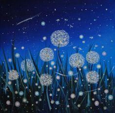 Одуванчики (Картина),  40x40x1,5 cm - Rita Ason Blue Art, Dandelion, Art Gallery, Pets, Artwork, Flowers, Painting, Animals, Blue Artwork