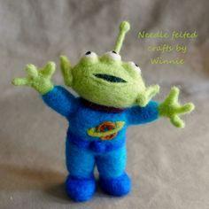 Needle felted Alien