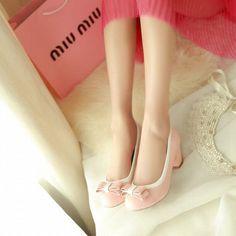 MissSaSa Damen süß Schleife Chunky heel low-cut Pumps bequem und simpel Blockabsatz runde Spitze Kleid/Büroschuhe: Amazon.de: Schuhe & Handtaschen