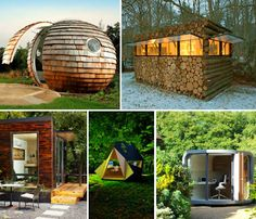 Who wouldn't want an office pod in the backyard, or even in the middle of the woods? Check out the whole article for 12 Unique Home Offices That Geeks Would Love - TechEBlog