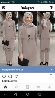 Hijab Style Dress, Casual Hijab Outfit, Hijab Chic, Muslim Women Fashion, Islamic Fashion, Abaya Fashion, Fashion Outfits, Mode Abaya, Muslim Dress