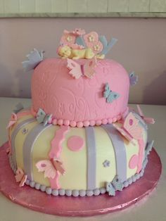 Baby shower cake on pinterest butterfly baby shower butterfly cakes