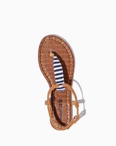 Sandy Lake Striped Sandals   UPC: 3000735971