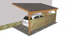 Step by step woodworking project about carport plans free. If you want to protect your car from bad weather, choose proper carport building plans for your needs. Wood Carport Kits, Carport Plans, Carport Garage, Garage Plans, Shed Plans, House Plans, Carport Patio, Carport Canopy, Deck Plans