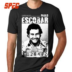 6d48a44e5 US $11.7 35% OFF|Pablo Escobar T Shirt Weed Mafia Scareface Luciano Capon  Men 100% Cotton Tees Plus Size Short Sleeve T Shirt-in T-Shirts from Men's  ...