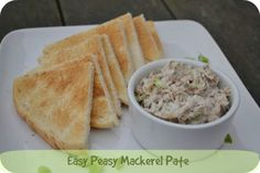 Easy Peasy Mackerel Pate - 5 Ingredients or less recipe - Casa Costello Healthy Yogurt, Healthy Snacks, Pate Recipes, Cooking Recipes, Smoked Mackerel Pate, Yummy Food, Delicious Recipes, Tasty, Food Challenge