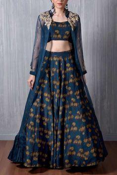 Buy online Lehenga - Nitya from Anoli Shah Blouse Lehenga, Robe Anarkali, Anarkali Dress, Lehenga Skirt, Lehenga Choli, Party Wear Indian Dresses, Indian Wedding Outfits, Indian Outfits, Wedding Dress