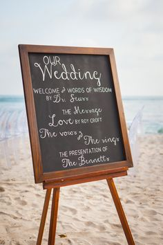 #chalkboard #sign Photography by jenphilips.com/# Read more - http://www.stylemepretty.com/2013/08/02/punta-de-mita-wedding-from-the-dazzling-details/