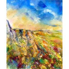 Autumn at Curbar Edge Print By Sheila Gill. | Greetings Cards | Prints | Gift Wrap